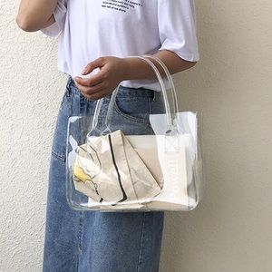 Handbags - CLEAR PVC TOTE SHOPPER